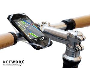 Networx Finn, Fahrradhalterung f. Smartphones, mit Navigations-App, transparent