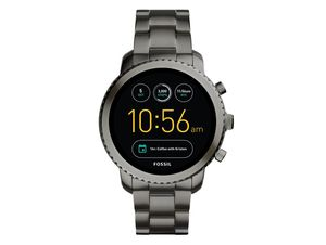 FOSSIL Q Explorist, Hybrid Smartwatch, Edelstahl, grau