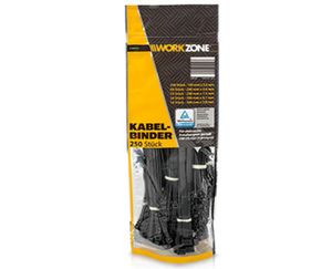 WORKZONE®  Kabelbinder, 250Stück