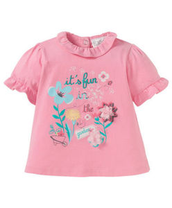 Ergee - T-Shirt - Blumen, Rüschen