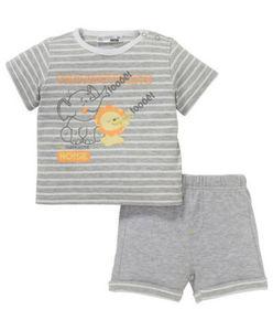 Ergee - T-Shirt + Shorts - Elefant, Löwe - 2-tlg. Set