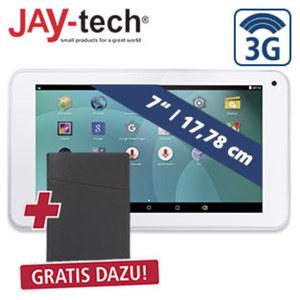 Multimedia-Tablet-PC XTE7DW · Quad-Core-Prozessor (bis zu 1,3 GHz) · inkl. 3G-Funktion · 2 Kameras · Android™ 5.1 + Universal-Tablet-Hülle • robustes Material in Lederoptik • mit Zubehörf
