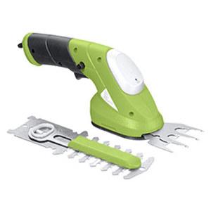 Akku-Gras- und -Strauchschere 2 in 1, Li-Ion 3,6 V, 70 mm Grasmesser, 100 mm Strauchmesser, Ladegerät, Wechsel der Aufsätze ohne Werkzeug möglich