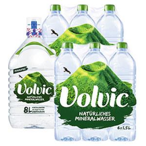 Volvic Naturelle, Leichtperlig 6 x 1,5 Liter oder Volvic Naturelle 8 Liter, ab 3 Stück, je