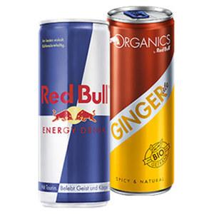 Red Bull Energy Drink* , Zero*  oder Organics (*koffeinhaltig), versch. Sorten, jede 250-ml-Dose