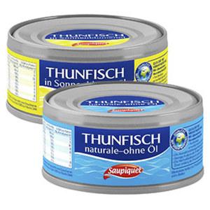 Saupiquet Thunfisch in Sonnenblumenöl oder naturale 185-g-Dose/140 g Abtropfgewicht