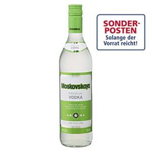 Moskovskaya Russischer Vodka 38 % Vol.,  jede 0,7-l-Flasche