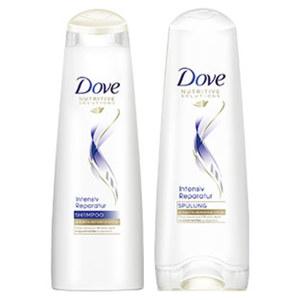 Dove Shampoo oder Spülung versch. Sorten, je 250/200-ml-Flasche