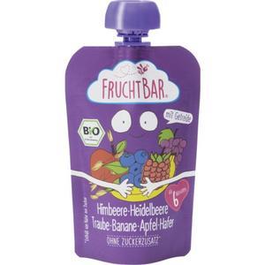 FruchtBar Bio Fruchtpüree Himbeere, Heidelbeere, Traube 0.89 EUR/100 g (8 x 100.00g)