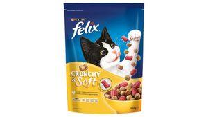 felix Katzentrockenfutter Crunchy & Soft mit Huhn, Truthahn und Gemüsezugabe