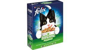 felix Katzentrockenfutter Inhome Sensations mit Huhn, Getreide und Zugabe von Gartengrün
