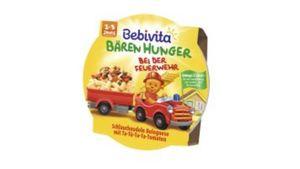Bebivita Bären Hunger 1-3 Jahre in der Schale - Bären Hunger bei der Feuerwehr Schlauchnudeln Bolognese mit Ta-Tü-Ta-Ta-Tomaten