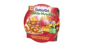 Bebivita Bären Hunger 1-3 Jahre in der Schale - Bären Hunger auf der Baustelle Kartoffel-Steine mit Karotten-Würfelchen und Hackfleisch