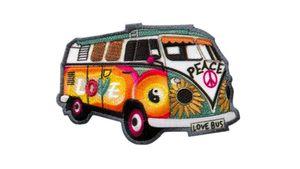 Mono Quick Bügelmotiv Hippie Bus
