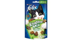 felix Katzensnacks KnabberMix Hof & Wiese mit Enten-, Truthahn- und Kaninchengeschmack 60 g Beutel