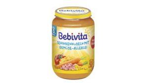 Bebivita Menüs ab dem 8.Monat - Schinkennudeln mit Gemüse-Allerlei, 220g