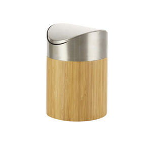 Bambus-Tischmülleimer