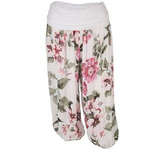 Damen Haremshose mit floralem Print in Bermuda Länge