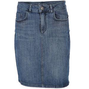 Damen Jeansrock mit Strasssteinchen