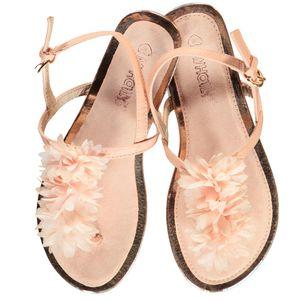 Damen Sandale mit Blütenstreifen