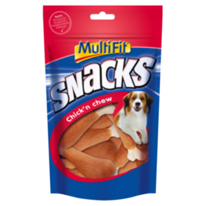 MultiFit Snacks Chick'n chew Calciumknochen 2x100g