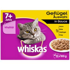 Whiskas Katzenfutter 7+ Geflügelauswahl in Sauce 12x100g