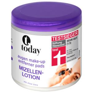 Today Augen Make-up Entferner Mizellen-Lotion 100 Stück