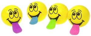 Schleuder-Ball - Be Happy - Smiling Faces - 1 Stück