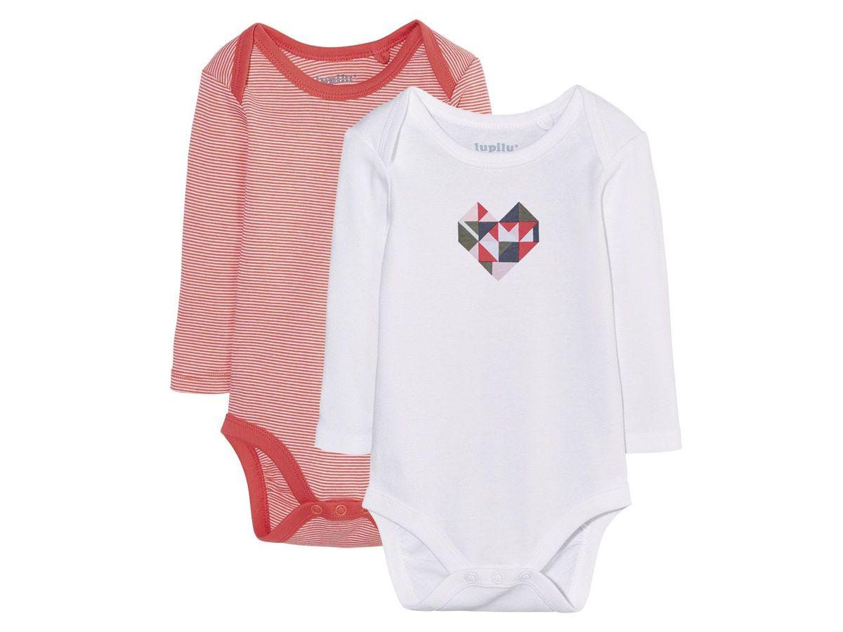 Bild 2 von LUPILU® 2 Baby Mädchen Langarmbodys