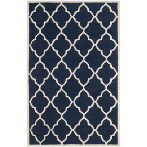 Teppich Noelle handgetuftet - Wolle - Marineblau - 121 x 182 cm, Safavieh
