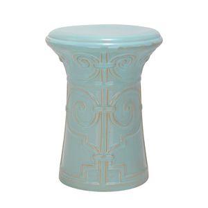 Keramikhocker Imperial - Aqua, Safavieh