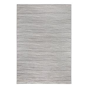 Teppich Bolonia I - Kunstfaser - Hellgrau / Weiß - 67 x 140 cm, andiamo