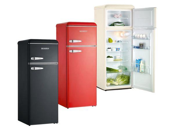 Retro Kühlschrank Silber : Severin retro doppeltür kühl gefrierschrank von lidl ansehen