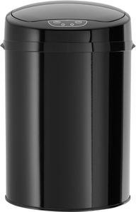 Echtwerk EW-BE-0249 Edelstahl Badabfalleimer 9 L mit IR Sensor - Inox Black