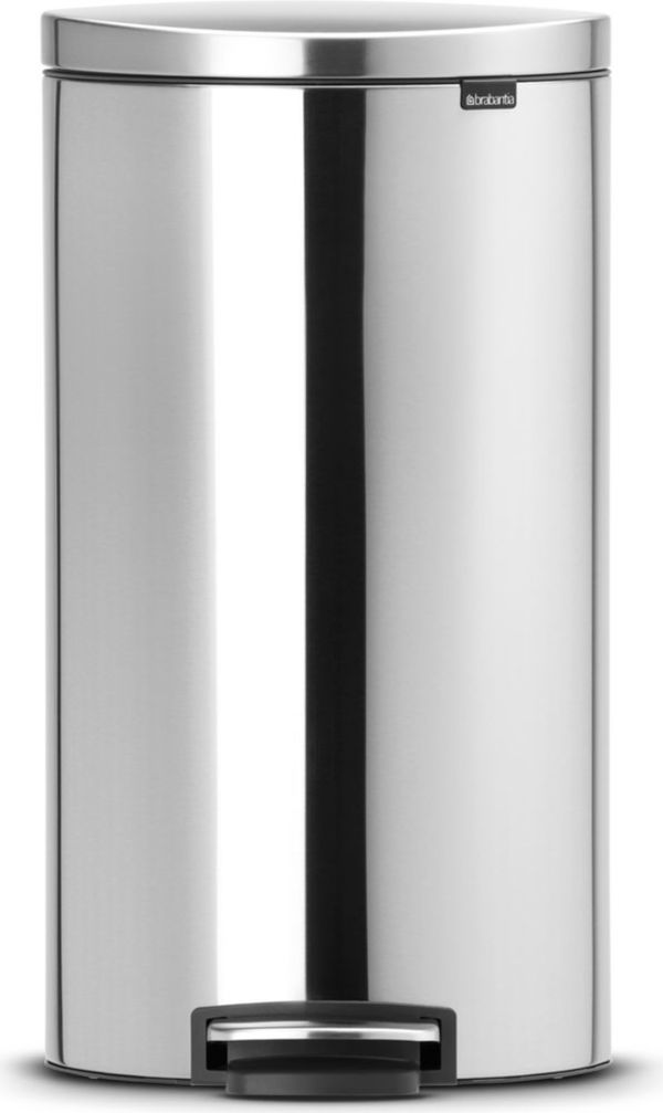 Brabantia Treteimer FlatBlack+, 30 Liter