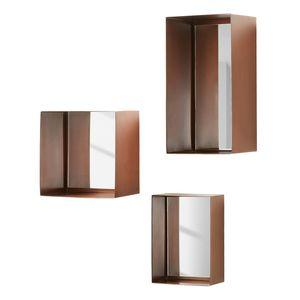 Spiegel Clifden (3-teilig) - Metall - Kupfer, Jack and Alice