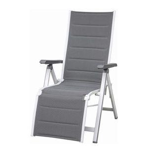 Klappstuhl Futosa Relax - Aluminium / Textilene - Weiß / Grau, Siena Garden