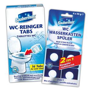 Saubermax WC-Reiniger Tabs / Wasserkastenspüler 2 in 1