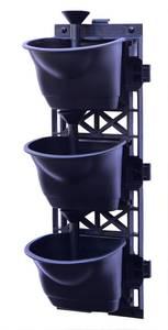Pflanztöpfe mit Bewässerungssystem 2 x 3er Set UPP
