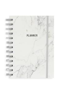 Grau marmorierter Terminplaner