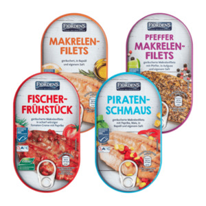 FJÖRDEN'S     Makrelen-Räucherspezialität