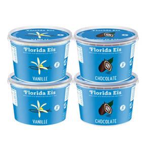 Florida Eis             Probierpaket 2x Chocolate und 2x Vanille Speiseeis