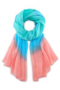 Plissee-Schal von Cox in türkis für Damen