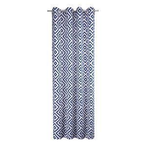 Ösenschal Open Squares - Webstoff - Blau, Tom Tailor