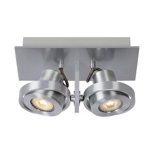 EEK A+, Deckenstrahler LUCI-2 LED - Aluminium - 2-flammig, Zuiver