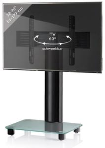 VCM TV-Standfuß Tosal Schwarz/Mattglas