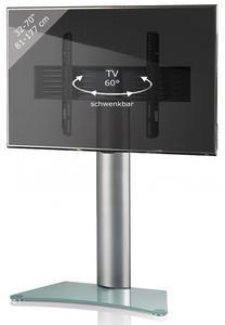 VCM TV-Standfuß Zental Silber/Mattglas