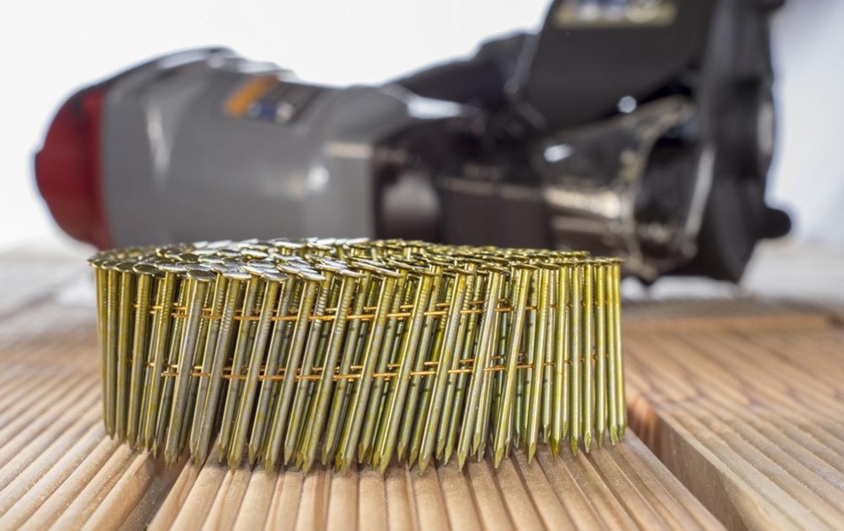 Bild 2 von Mauk Munition für Druckluft Coil Nagler MCN55 Art.Nr. #2111, smooth shank; Glattschaft, 2,1 x 38 mm,
