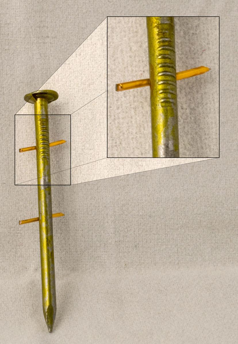 Bild 5 von Mauk Munition für Druckluft Coil Nagler MCN55 Art.Nr. #2111, smooth shank; Glattschaft, 2,1 x 38 mm,