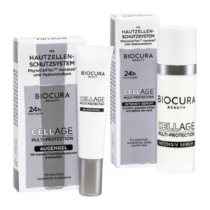 BIOCURA  	   Cellage Multi-Protection Augengel/Intensiv Serum